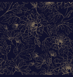 Seamless pattern from chrysanthemums vector