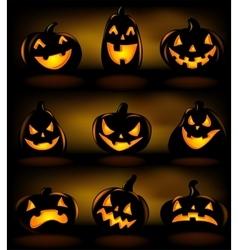 Set of Halloween lanterns vector image