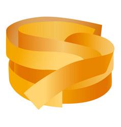 spaghetti pasta icon realistic style vector image