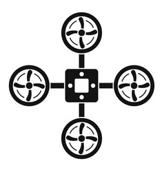 spy drone icon simple style vector image
