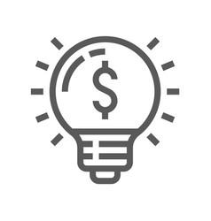 startup idea line icon vector image