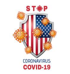 Stop virus covid-19 concept design icon vector