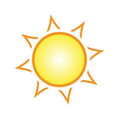Stylized cartoon sun element vector