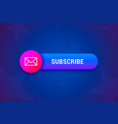 subscribe button banner with envelope icon in vector image