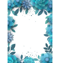 Template design flower arrangement with place vector