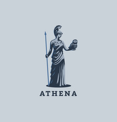 The goddess athena vector