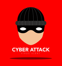 Thief icon cyber attack vector