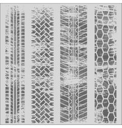 Tire tracks grunge white vector image