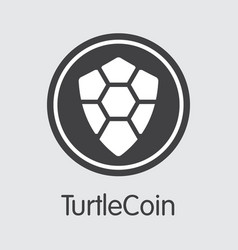 turtlecoin cryptocurrency trtl web icon vector image