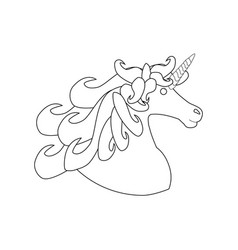 unicorn horse head vector image