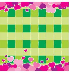 valentine green background design vector image