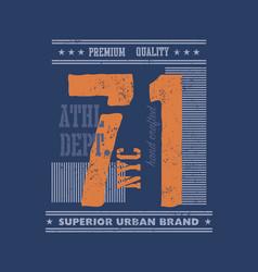 Vintage urban typography t-shirt graphics vector