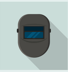 welder black protect mask icon flat style vector image