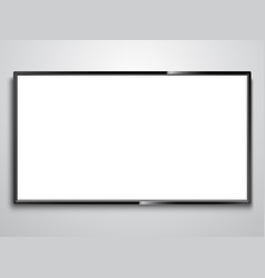 White screen tv vector