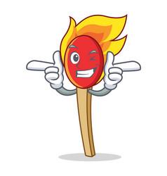 Wink match stick character cartoon vector