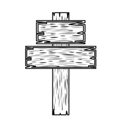 wooden cross religious icon vector image