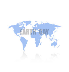 world map on day earth white background vector image