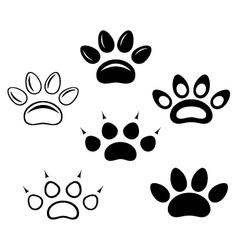 Brown footprints vector image