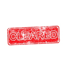 cleared red grunge rubber stamp vector image