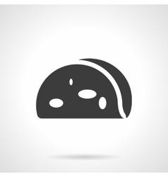 Corn tortilla glyph style icon vector image