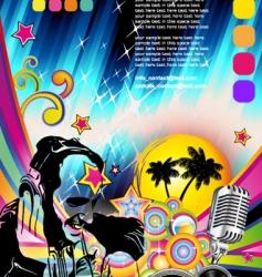 discotheque Dj flyer vector image vector image
