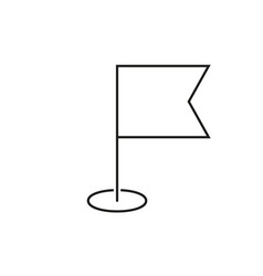 Navigation flag outline icon vector