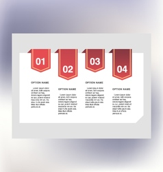 Process template vector image vector image