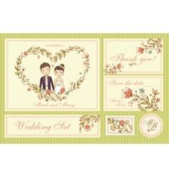 Wedding Set vector image