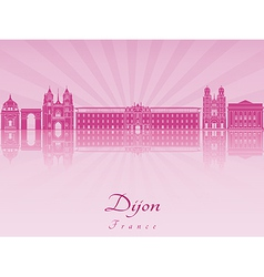 Dijon skyline in purple radiant orchid vector image vector image