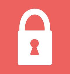 flat heart lock icon vector image