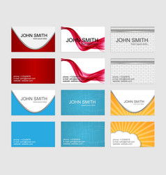 Modern simple business cards template set vector image