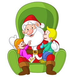santa with kids vector image vector image