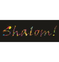Colorful grunge Shalom vector image