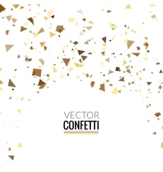 Gold glitter shine texture on a white background vector