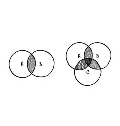 hand-drawn scribble circle diagram vector image vector image