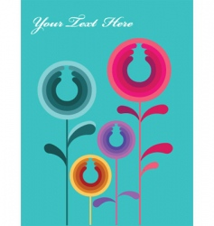 retro flower background vector image vector image