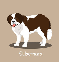 an depicting a cute stbernard dog cartoon vector image vector image