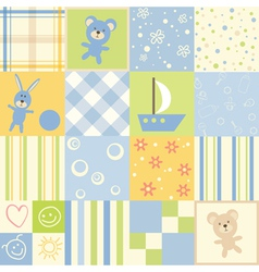 baby seamless set of child patterns vector image vector image
