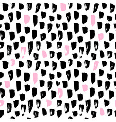 seamless pattern funky paint blots vector image vector image