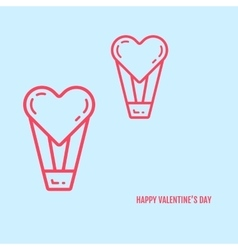 valentines day concept in vector image vector image
