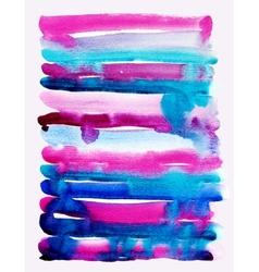 watercolor brush strokes background stripe pattern vector image