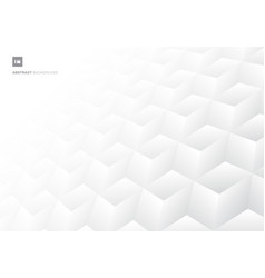 3d realistic geometric symmetry white and gray vector