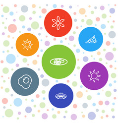 7 sunny icons vector