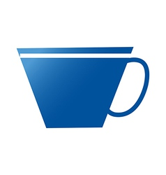 A cup is placed vector