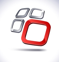 Abstract 3d icon vector image