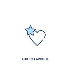 Add to favorite concept 2 colored icon simple vector
