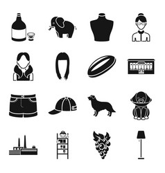 alcohol animal atelier and other web icon in vector image