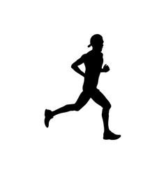 Athlete runner in cap vector