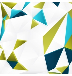background with color triangles vector image
