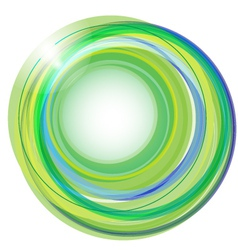 background with green circles vector image